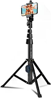 """Fugetek 51"""" Professional Selfie Stick & Tripod, Phone Holder, Extendable, Bluetooth Remote, Portable All in One, Heavy Dut..."""