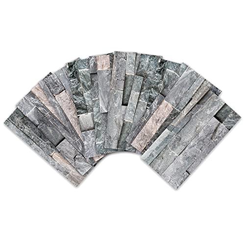 VIVILINEN 27 Piezas Pegatinas de Baldosas de Cerámica Antideslizantes de Estilo Europeo, Adhesivo de Azulejo Aspecto Mármol para Cocina Baño Sala, Stickers Azulejos Collage de Azulejos