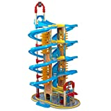 KidKraft Super Vortex Racing Tower 5-Story Race Track Toy for Die-Cast Cars; Storage for 50+ Vehicles, Gift for Ages 3+