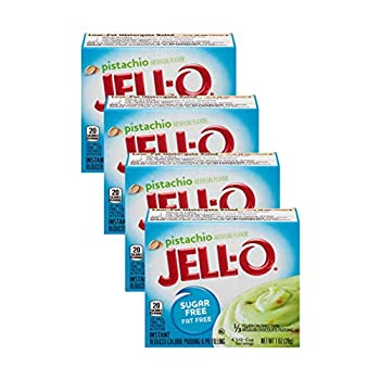 Jell-O Pistachio Flavor Sugar Free Pudding & Pie Filling  4-Pack