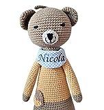handgefertigte Baby Spieluhr - mit Namen personalisierte Baby Geschenke Junge Mädchen - Teddy -...