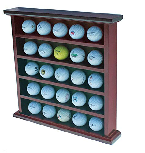 Golf Gifts Golfball-Vitrine, Wandregal, ohne Tür, mahagoni