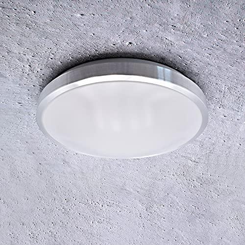 SAVONY IP20 (inkl. 2x LED Leuchtmittel E27 2x 13W) - (2210lm) - Decken Wandleuchte Deckenlampe Wandlampe für LED & ESL (Rund)