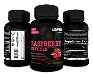 100% Pure Raspberry Ketones Extract New Extra Strength Appetite Suppressant, Energy Booster, All Natural, 60 Vegetarian Capsules #1