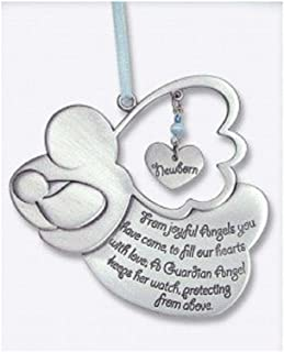 Sweet GUARDIAN ANGEL Baby BOY Crib Medal 4