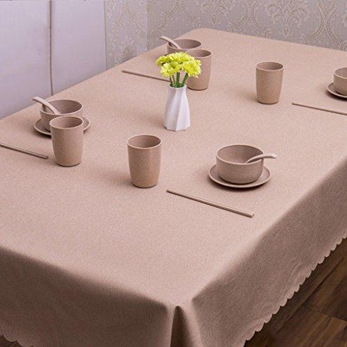 Nappe européenne Nappe de coton antipoussière table à huile nappe de thé fête banquet pique-nique, imperméable à l'eau nappe nappe rectangulaire (Couleur : A, taille : 140 * 190cm)