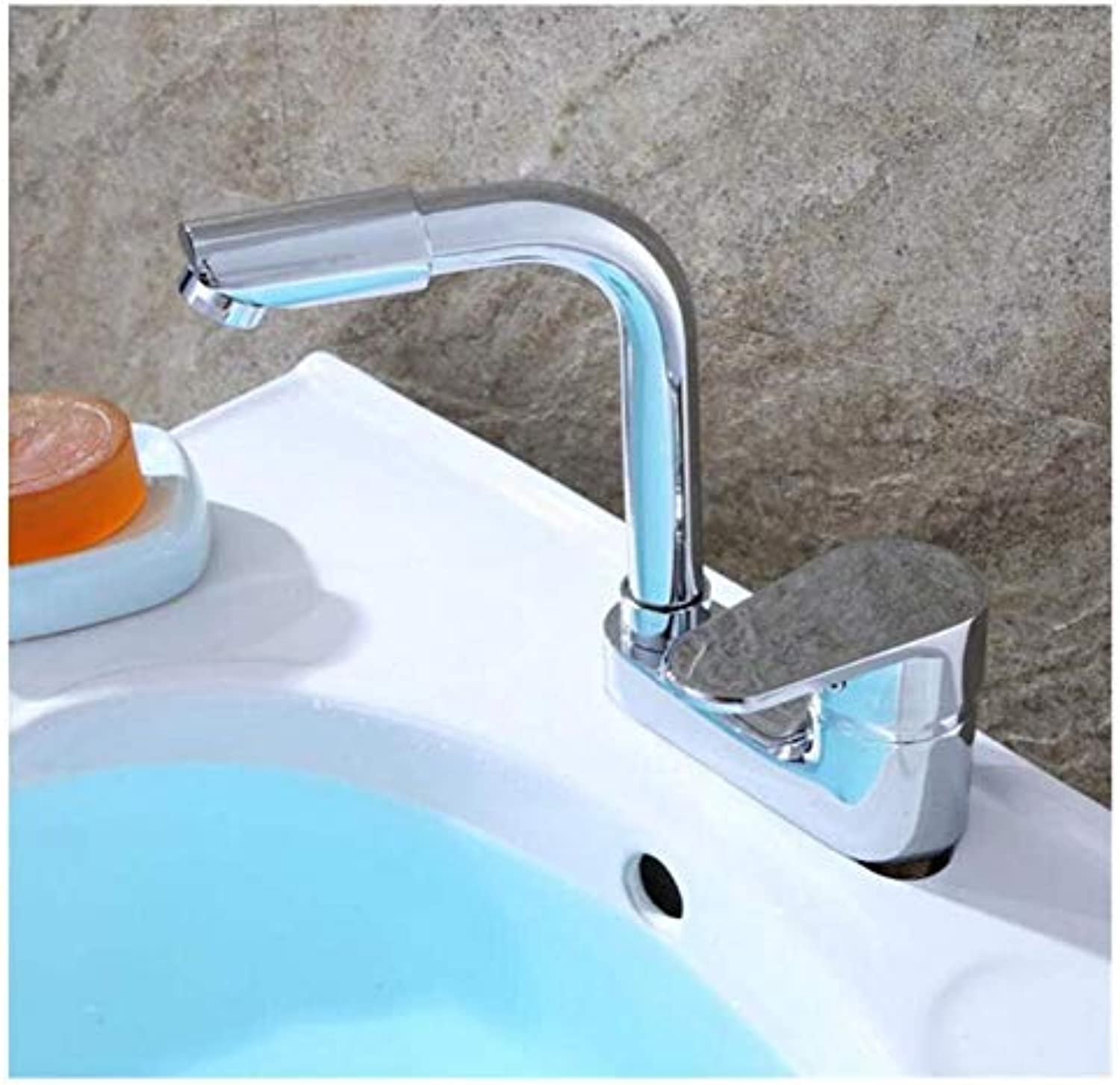Brass Wall Faucet Chrome Brass Faucetfaucet Single Handle Double Hole Three Hole Hot and Cold Water Control