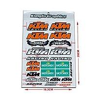 KUNGFU GRAPHICS カンフー グラフィックス レーシングスポンサーロゴ マイクロデカールシート (オレンジ)
