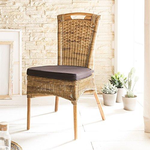 SIT-Möbel Chaise en rotin Finition Antique