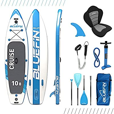 "Bluefin SUP Stand Up Inflatable Paddle Board with Kayak Conversion Kit | Ultimate iSUP Kayak Bundle | Available in Various Sizes (10'8"", 12'0"" and 15'0)"