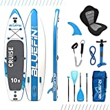 Bluefin SUP Stand Up Paddle Board with Kayak Conversion Kit, Blue, 10'8
