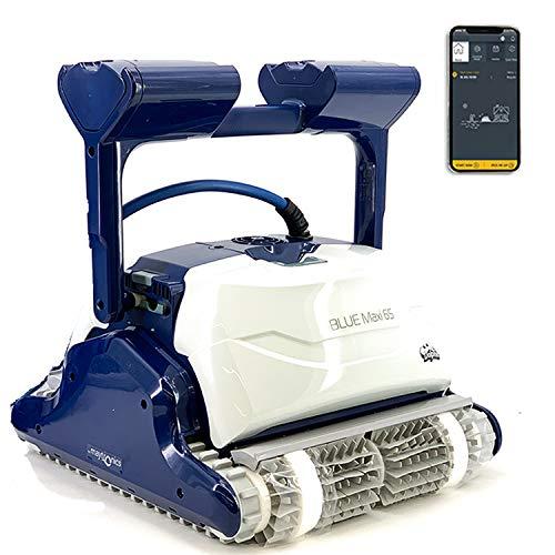 DOLPHIN Blue Maxi 65 Robot limpiafondos Piscina - Robot automático limpiafondos para Piscinas (Fondo y Paredes) Sistema de navegación preciso Clever Clean + Gyro. Control Remoto App MOVIL WiFi