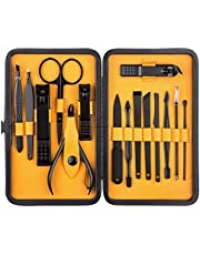 Brain Freezer 15 in 1 Nail Clipper Kit With Case Nail Care Set, Black, 250 g