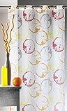 Homemaison Cortina de Voile 'Monde', 100% poliéster, Naranja, 135 x 250 cm