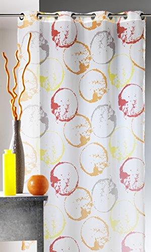 Homemaison Cortina de Voile 'Monde', 100% poliéster, Naranja, 135 x 2