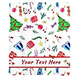 Christmas Tree Blanket, Custom Blanket with Text Name, Personalized Throw Blanket for Family, Friends (30'x40')