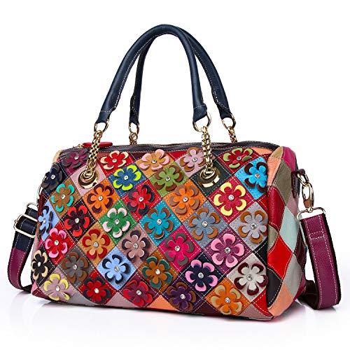 Eysee bolso mujer piel bandolera bolso mujer bolso bandolera bolso bandolera de cuero genuino multicolor 2021 NUEVO grande