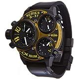 Welder by U-Boat K37 Triple Time Zone Chronograph Black Ion-Plated Steel Mens Watch K37-6501