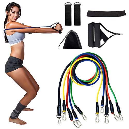 Kunyun 11 Piezas/Conjunto De Tubo De Lucia Anti-Tensión Capacitación Elástica Capacitación De Tobillo Tobillo Fitness Ejercicio Yoga Bolso de cinturón de Ejercicio Caliente.