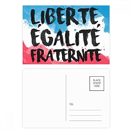 DIYthinker Liberte Egalite Fraternite France Mark Vlag Postkaart Set Verjaardag Thanks Card Mailing Side 20 stks 5.7 inch x 3.8 inch Multi kleuren
