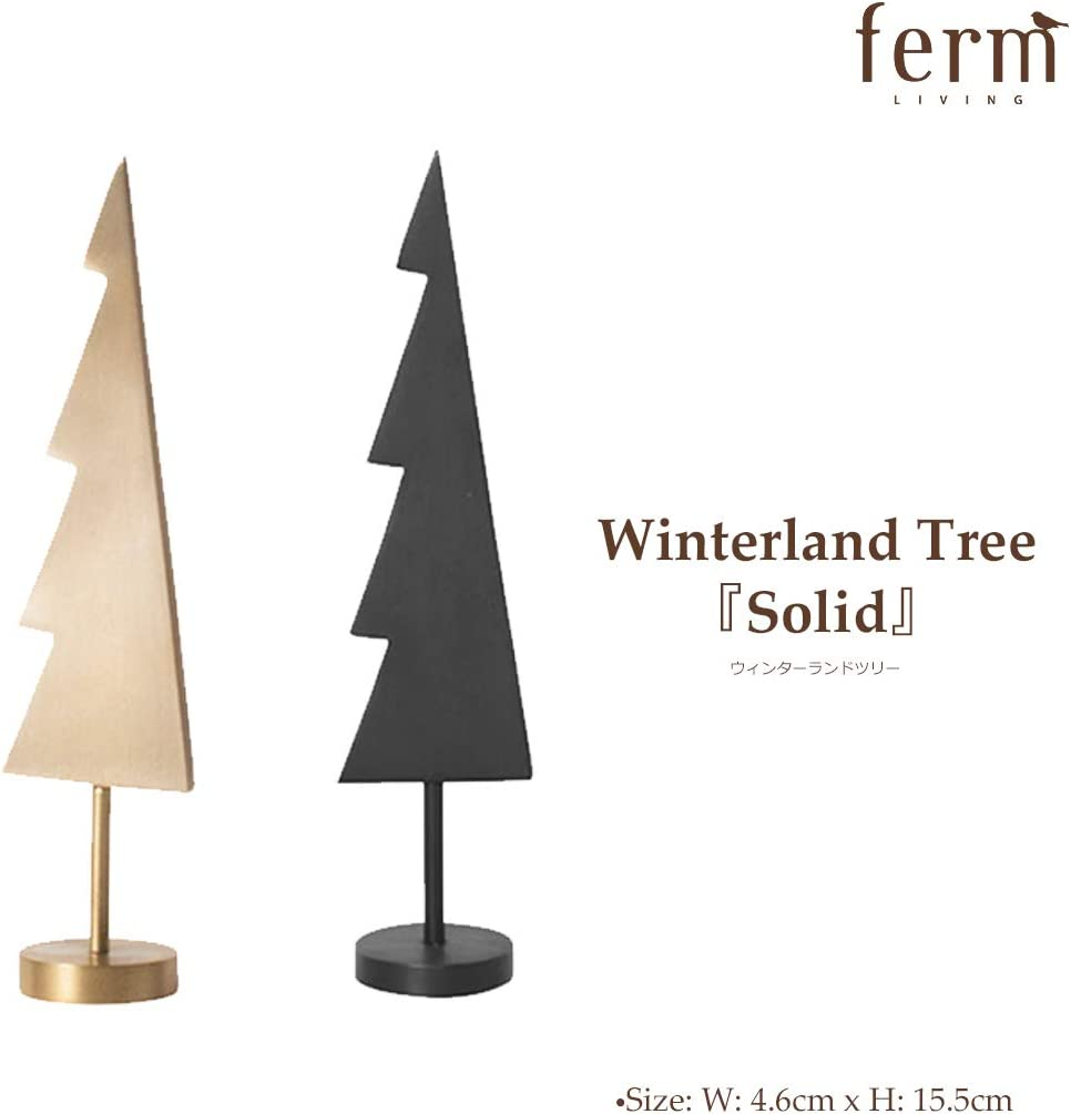 Ferm Living Christmas Tree Max 78% SEAL limited product OFF Metal x 15.5 Gold 4.6 cm.