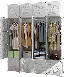 XLAHD Penderie Penderie de Rangement Penderie pour vêtements Suspendus Armoire combinée Armoire modulaire Organisateur de ...