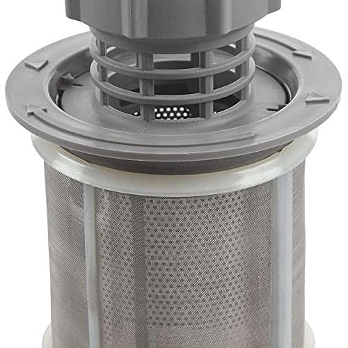 Yuyanshop Wivarra - Juego de filtros de malla para lavavajillas (2 partes, polipropileno gris) para lavavajillas 427903 170740, repuesto para lavavajillas