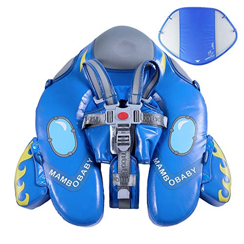 Upgrade Mambobaby Float for Infant Waist Swimming Ring Swim Trainer Life Vest Non-Inflatable Floats Toys with Adjustable Safety Strap (Blue Spaceship)