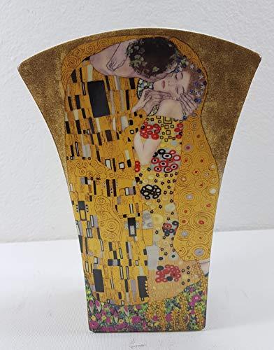 VIPOLIMEX Elegante Vase Gustav Klimt - der Kuss Blumenvase Dekovase