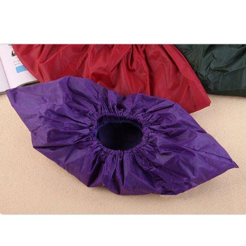 Couvre-chaussures en tissu imperméable réutilisable - 1 paire : rouge.