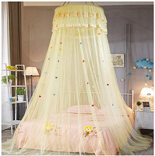 Bed Canopy for Girls Dome Princess Klamboe for de kinderen spelen Nursery Decor Full Coverage Fly Insect Protection Pink dmqpp (Color : Beige, Size : 120x200cm)