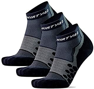Thirty48 Performance Compression Low Cut Running Socks for Men and Women | More Compression Where Needed
