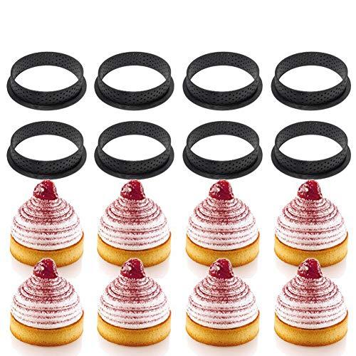 Alivier Silikon Backform Runde Form Mousse Kreis Ring Gebäck und Backenwerkzeuge für die Herstellung von Mousse Pie Quiche Kreisform