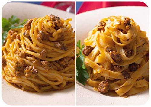 """日本初のボロネーゼ専門店の特製生パスタ&ボロネーゼソースのセット。お店で話題の北イタリア名産の太麺""""ビゴリ""""と伝統の平打ち麺""""タリアテッレ""""の2種が楽しめます。ソースは、アメリカのミーソース系ではなく、本場イタリアの味を再現した本格派です。"""