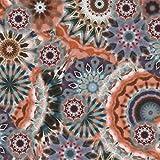 Qualitativ hochwertiger Viskosejersey, Mandala Musterung in
