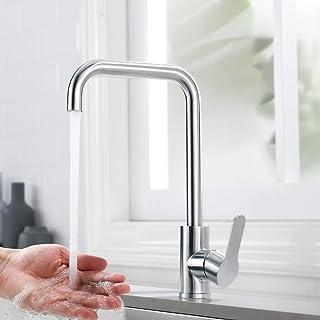 Küchenarmatur, DUTRIX 360°drehbar Wasserhahn SUS304 Edelstahl Spültisch Küchenhahn Einhebelmischer Spültischarmatur Armatur Küche