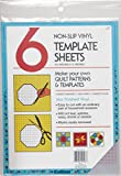 8.5x 11Non slip vinyl 6Pc- non-slip vinyl with four sheets marked in .25Grid and two plain sheets