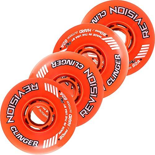 Revision Clinger Outdoor Inline Rollhockey-Räder, 82 A, 72 mm, Orange
