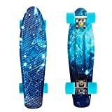 High Bounce Complete 22 Inch Skateboard for Kids of All Ages, Girls, Boys (Ocean Blue)