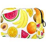 Bolsa de maquillaje de dibujos animados bolsa de cosméticos impresa artículos de tocador bolsas de viaje bolsas de cosméticos para mujeres hojas verdes