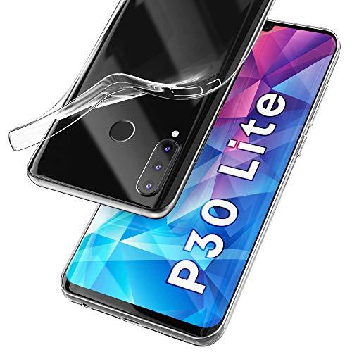 UTECTION Cover Trasparente per Huawei P30 Lite - Morbida, Ultra Sottile & Leggera - Formato preciso - Custodia Protettiva, Resistente ai Graffi - Bumper Silicone in TPU Crystal-Clear