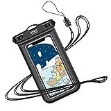 YOSH 防水ケース スマホ用 最大7インチ対応 Iphone 12mini 12シリーズ Android携帯 に対応 IPX……