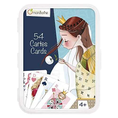 Avenue Mandarine CO109O - Un jeu de 54 cartes traditionnelles en boite plastique refermable