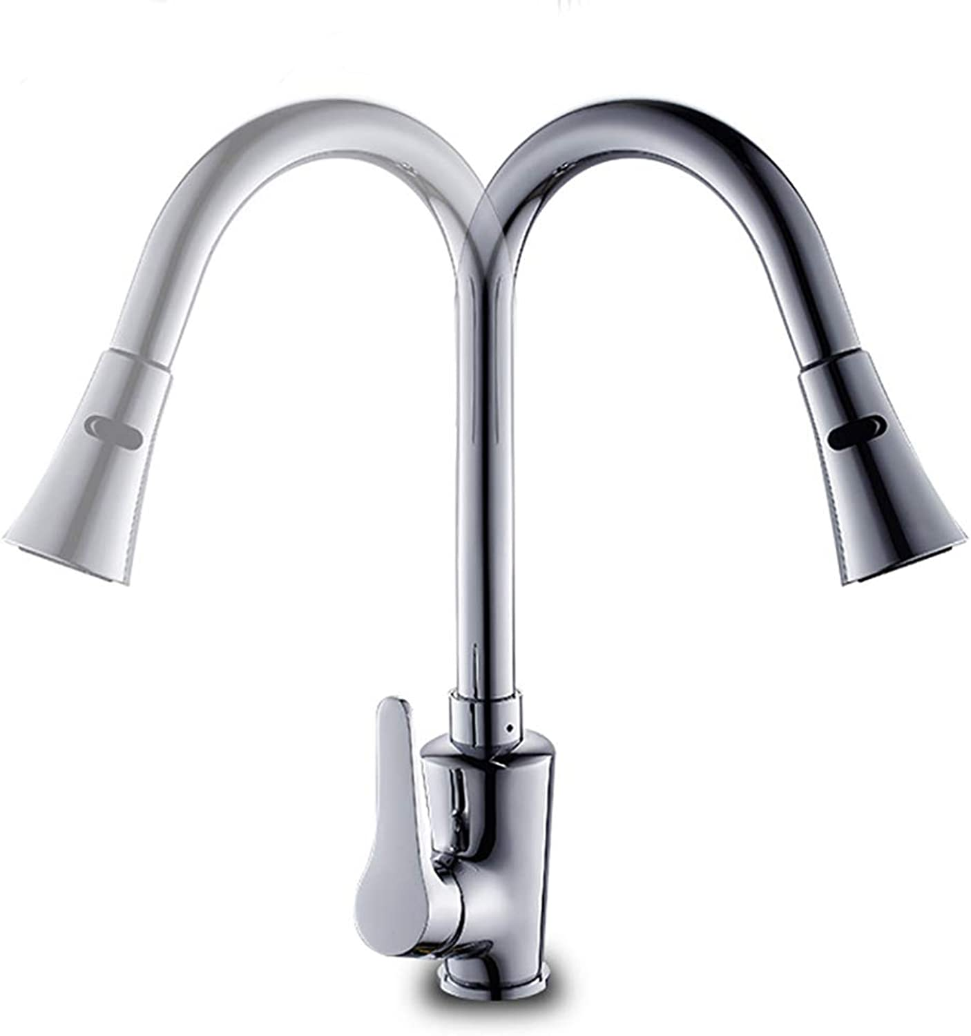 BILLY'S HOME Kitchen faucet, Contemporary Pull Down Kitchen Faucet with Ceramic Valve One Hole Single Handle One Hole 360° redating Spout And Easy Inssizetion