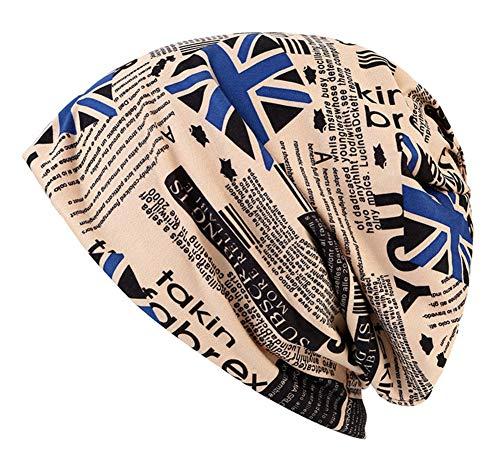 ZYLL Unisex-Milch-Seidenmütze, Frühling Herbst Nationalflagge Druck Winddicht warmen Haarausfall Hut, Sonnenschirm Hut, Mütze,Blue,OneSize