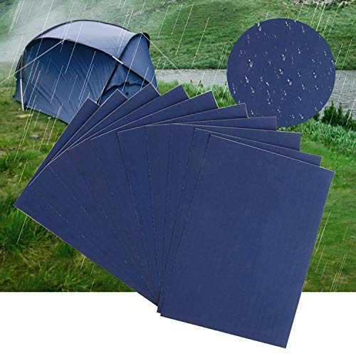 LATTCURE Parches de reparación de nailon, 10 unidades, autoadhesivos, parches de reparación para lonas, tiendas de campaña, mochilas, chaquetas de lluvia, paraguas