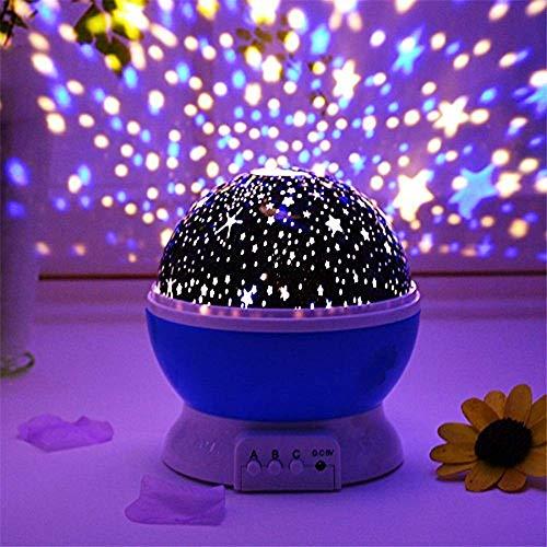 DPISZONE Romantic Sky Star Master Night Light Projector Children Kids Baby Sleep Lighting USB Lamp Led Projection Best Gift For Diwali, Birthday, Christmas Kids Baby Room Decor Light - Star Lamp (Multi Color)