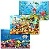 GREAT ART 3er Set XXL Poster Kinder Motive – Ocean