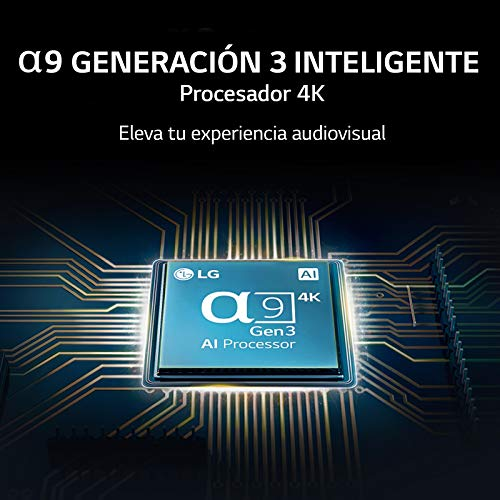 "LG OLED55CX6LA - Smart TV 4K UHD OLED 139 cm (55"") con Inteligencia Artificial, Procesador Inteligente α9 Gen3, Deep Learning, 100% HDR, Dolby Vision/ATMOS, 4xHDMI 2.1, 3xUSB 2.0, Bluetooth 5.0, WiFi"