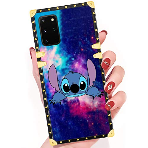 DISNEY COLLECTION Samsung Galaxy S20 Plus Case Stitch and Starry Sky Square Phone Case Cover Soft TPU 360 Degree Luxury Shockproof Protective Case Compatible for Samsung Galaxy S20+ 5G 6.7 Inch 2020